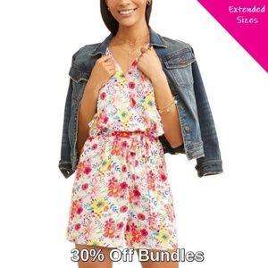 Pants - Low Stock! Flutter Sleeve Floral Romper